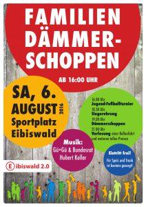 Dämmerschoppen am 6. August am Sportplatz Eibiswald