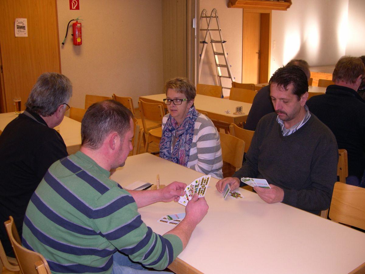 Fotos vom Preisschnapsen am 14. Jänner 2017 in St. Oswald
