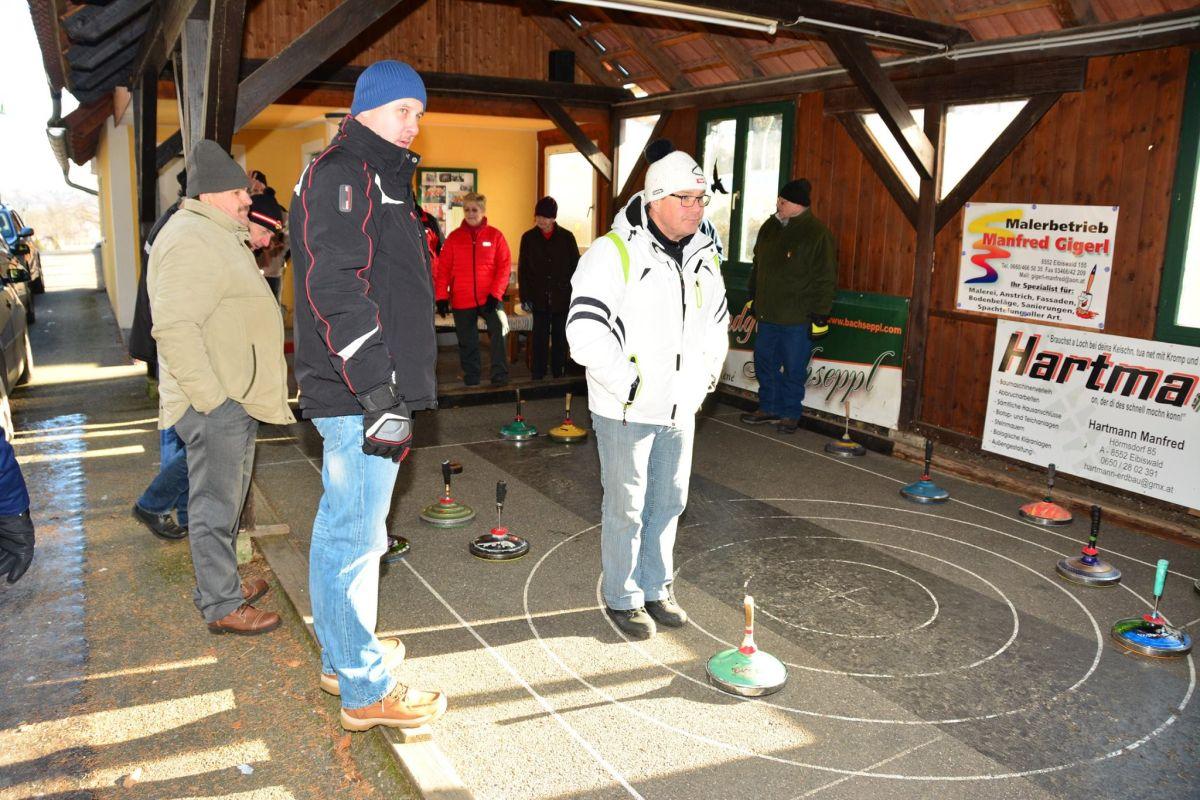 Fotos vom Stockschießen zwischen SPÖ Eibiswald und dem Pensionistenverband Hörmsdorf am 7. Jänner 2017